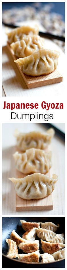 Gyoza or Japanese pan-fried dumplings are SO delicious. EASY gyoza recipe made with store-bought ingredients, cheap & a zillion times better than takeout. Do It Yourself Food, Fried Dumplings, Tasty, Yummy Food, Asian Cooking, Asian Recipes, Healthy Recipes, Love Food, Food To Make