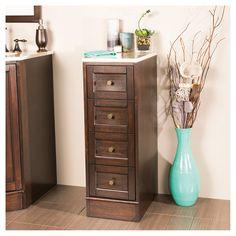 """""""Catryn"""" Bathroom Cabinet - 3 Drawers - Dark Walnut"""