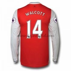 Billige Fodboldtrøjer Arsenal 2016-17 Walcott 14 Langærmet Hjemmebanetrøje