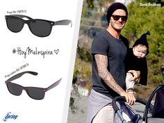 Gafas de sol estilo wayfarer. Inspiración: David Beckham.