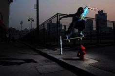 Skating In Dark Action Photography