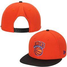 Mens New York Knicks New Era Orange Hardwood Classics Material Max 9FIFTY Adjustable  Snapback Hat Nba f3cff08302ad