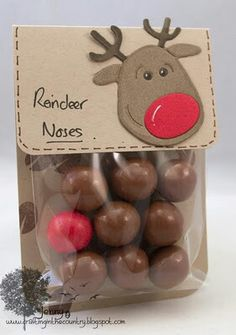 Reindeer noses and other holiday treat bags Crafting in the Country: The Last Christmas Post Christmas Post, Christmas Goodies, Diy Christmas Gifts, Winter Christmas, Christmas Decorations, Christmas 2017, Coworker Christmas Gifts, Christmas Class Treats, Santa Gifts