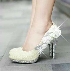 Flower Rhinestone Heels on Luulla Rhinestone Wedding Shoes, Sparkly Wedding Shoes, Rhinestone Heels, Sparkly Shoes, Glitter Shoes, Bridal Shoes, Bedazzled Shoes, High Heels Gold, Wedding High Heels