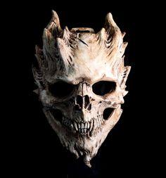 Pre-order Bone Warrior, Aged Bone Skull Mask / Demon Skull / Horror Halloween, costume, done. - This is a pre-order for Christmas / Masquerade season, this item will be shipped by if you re - Horror Halloween Costumes, Halloween 2020, Halloween Season, Mascaras Halloween, Masque Halloween, Totenkopf Tattoos, Skull Mask, Skull Helmet, Cat Skull