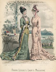 July fashions, 1878 US, Frank Leslie's Lady's Magazine