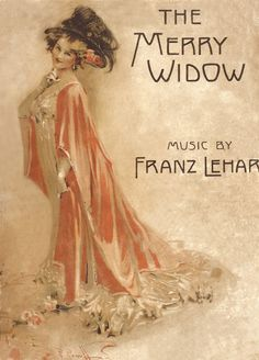 "Watercolour of Miss Lily Elsie for the cover of a souvenir songbook of ""The Merry Widow"": costumes by 'Lucile'. Timeless Beauty, Timeless Fashion, Franz Lehar, Antique Illustration, Vintage Illustrations, Lily Elsie, Merry Widow, Nostalgic Images, Music Images"