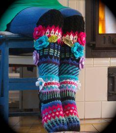 Irish lace, crochet, crochet patterns, clothing and decorations for the house, crocheted. Knit Stockings, Knitting Socks, Knit Socks, Irish Lace, Chrochet, Irish Crochet, Leg Warmers, Handicraft, Fingerless Gloves