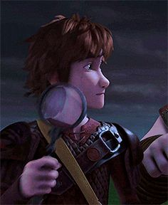 Detective Hiccup, who is my favorite character. ♡ I wished there would be an episode where Hiccup gets amnesia and the other Riders have to reteach him about Dragons. Of course, it ends in disaster as Hiccup is the best in the Dragon business. That would be so funny!