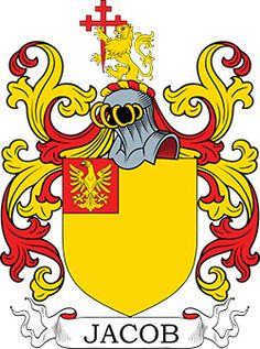 Jacob Coat of Arms and Jacob Family Crest. Learn about the history of this surname and heraldry from our database and online image library. Family Crest, Crests, Online Images, Coat Of Arms, Tigger, Disney Characters, Fictional Characters, History, Genealogy