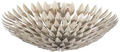 "Crystorama Broche 16""W Leaves Matte White Ceiling Light - #1P703 