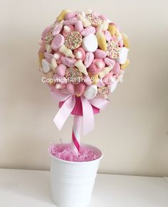 Pretty pink pic n mix sweet tree. Pink and white candy tree perfect for baby showers, birthday party, wedding or event www.facebook.com/thesweettree1 Wedding Favours, Party Wedding, Wedding Ideas, Birthday Crafts, Birthday Ideas, Birthday Parties, Candy Trees, Candy Buffet Tables, Sweet Trees