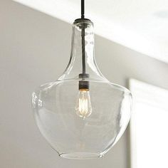 Lighting - Sawyer 1-Light Pendant | Ballard Designs - glass pendant, industrial glass pendant,