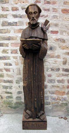 Vtg SAINT FRANCIS of ASSISI Catholic Religious Art Wood Sculpture TALL STATUE