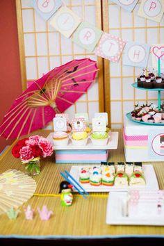 Japanese Kokeshi Doll with Lots of Cute Ideas via Kara's Party Ideas KarasPartyIdeas.
