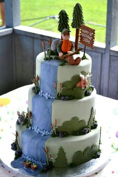 Birthday cake for an outdoorsman