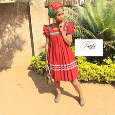 by Fatiki designs Pedi Traditional Attire, Sepedi Traditional Dresses, African Traditional Wear, African Traditional Wedding Dress, Crystal Wedding Dresses, African Dress, Summer Dresses, Quotes Motivation, Designers