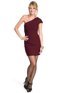 Robert Rodriguez Black Label Sophisticated Merlot Dress