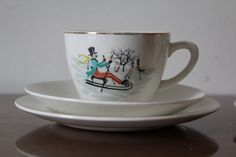 A charming trio depicting a winter scene. by 20thCenturyParade, £10.00