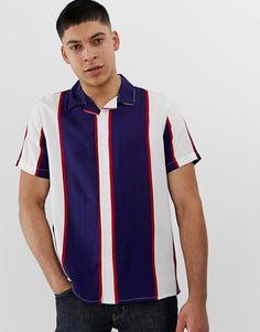 350f92dcae Nudie Jeans Co Svante cuban worker shirt in navy stripe