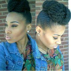 Marley Bun Natural Hair Bun Styles, Cute Natural Hairstyles, Natural Hair Updo, Natural Hair Styles For Black Women, Natural Hair Journey, Classy Hairstyles, Creative Hairstyles, Afro Hairstyles, Marley Hair Bun
