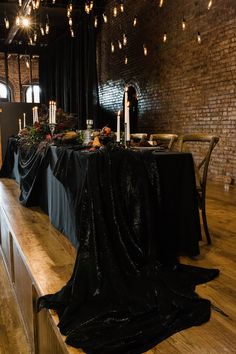 Why should spooky vibes be limited to Halloween? We can't get enough of this gorgeous moody wedding inspiration at The Church on Main in Chattanooga, TN! Pagan Wedding, Skull Wedding, Gothic Wedding, Our Wedding, Dream Wedding, Head Table Wedding Decorations, October Wedding, Wedding Goals, Just In Case