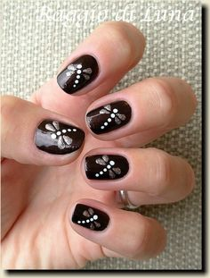 black nail art designs for 2016 - Diy Nail Designs Get Nails, Fancy Nails, Pretty Nails, Hair And Nails, Black Nail Art, Black Nails, Dragonfly Nail Art, Dragonfly Wings, Butterfly Nail Art