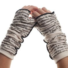 Never take your hands off Mr. Darcy with these super-soft fingerless gloves…