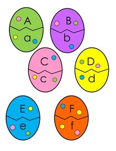 Easter Egg Letter Match by Primary Princess Place Preschool Themes, Easter Activities, Spring Activities, Alphabet Activities, Preschool Learning, Classroom Activities, Easter Crafts, Learning Activities, Preschool Activities