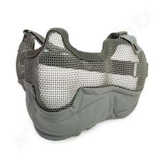 Softair Gittermaske groß mit Ohrenschutz grau   - Gitterschutzmaske aus…   #shootclub #airsoft #softair