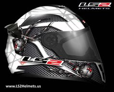 FF392 Spyder full face motorcycle helmet with cool spider design.  The FF392 is also available in a matte black solid style called Junior.