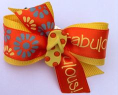 Fabulous Summer Flip Flop  Dog hair bow grooming by CreateAlley, $6.99