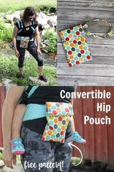 Get outdoors hands free, with this convertible hip pouch sewing tutorial! Slide it onto your baby carrier, your belt, or use the wrist strap and get outdoors with your essentials. The perfect thing to sew for the outdoorsy person in your life.Sponsored post - #keepontrack #ad #cbias