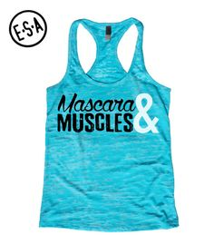 Mascara and muscles workout tank. By EnlightenedState