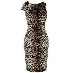 Voodoo Vixen Ladies New Velour Leopard 50S Vintage Rockabilly Party Pencil Dress | eBay