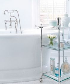 Design Chic: Things We Love: Bathroom Carts  Oh Dear!  Why did I sell my Stainless Cart just because it didn't fit in my Kitchen!