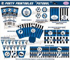 Party Printables :: Futebol Party Printables, Chocolate, Baby Kids, Nova, Personalized Items, Cards, Design, Ticket Invitation, Soccer
