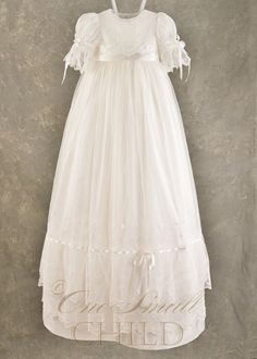 Natalia Silk & Lace Christening Baptism Blessing Gown