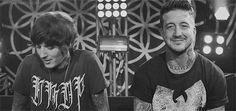 Oliver Sykes and Austin Carlile