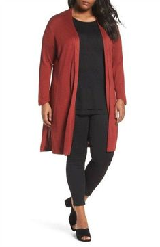 Buy Baggy Sweaters This Winter - Chicute Belted Cardigan, Cardigan Outfits, Long Cardigan, Outfits For Teens, Plus Size Outfits, Casual Outfits, Fall Outfits, Fall Fashion Trends, Autumn Fashion