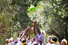 Picture of the week! Fanatic athletes in Uganda! #joinforjoy