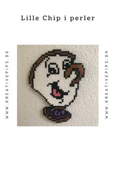 Månedens ide - lille Chip i perler - Perler Beads, Chips, Diy, Fictional Characters, Hama, Creative, Potato Chip, Bricolage, Fuse Beads