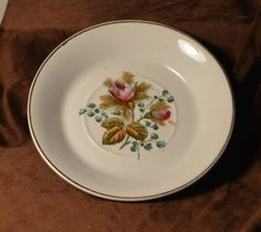 Alfred-Meakin-Royal-Ironstone-China-England-Pink-Rose-Bud-Bread-Dessert-plate