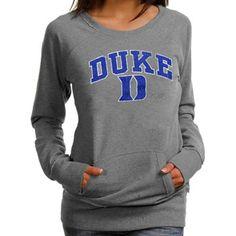 So cute. Duke Blue Devils Women's Scoop Neck Fleece Sweatshirt - Ash