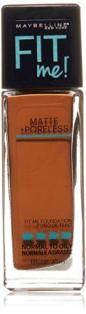 Amazon.com : Maybelline New York Fit Me Matte Plus Poreless Foundation, Mocha, 1 Fluid Ounce : Beauty