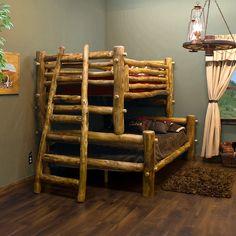 Aspen Log Bunk Bed - #aspenfurniture | Rustic Log bedroom furniture