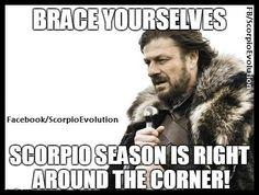 ♏  Scorpio Season #Meme #humor  #Scorpio #Zodiac #Astrology For more Scorpio related posts, please check out my FB page:  https://www.facebook.com/ScorpioEvolution