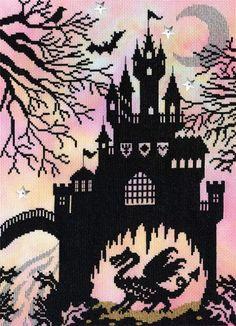 Dragon Castle Cross Stitch Kit   sewandso