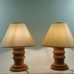 Set 2 veioze cu abajur din material textil si picior din lemn masiv de fag model 8 Table Lamp, Model, Home Decor, Table Lamps, Decoration Home, Room Decor, Scale Model, Home Interior Design