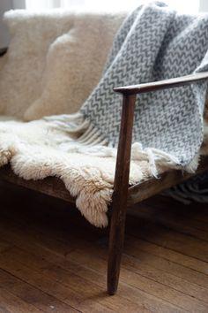 scandinavian style bench
